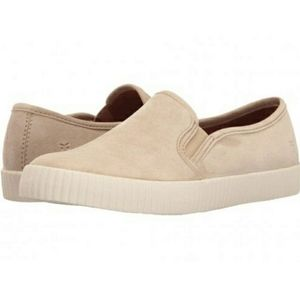 Frye Camille Suede Slip-Ons in Fawn Color
